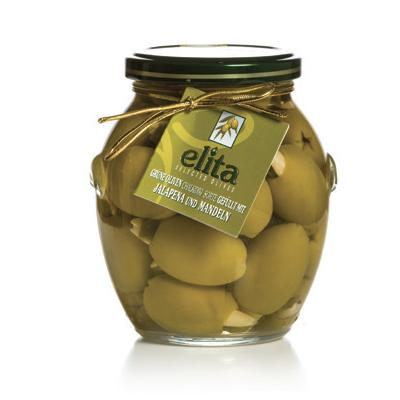 Green Olives Doublestuffed With Almond And Jalapeno