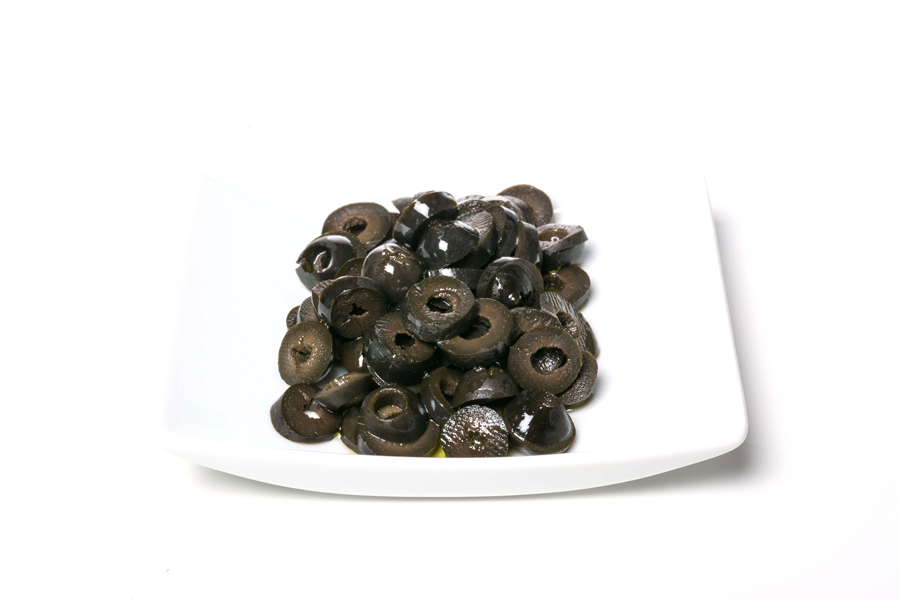 Black Oxidized Olives Slices
