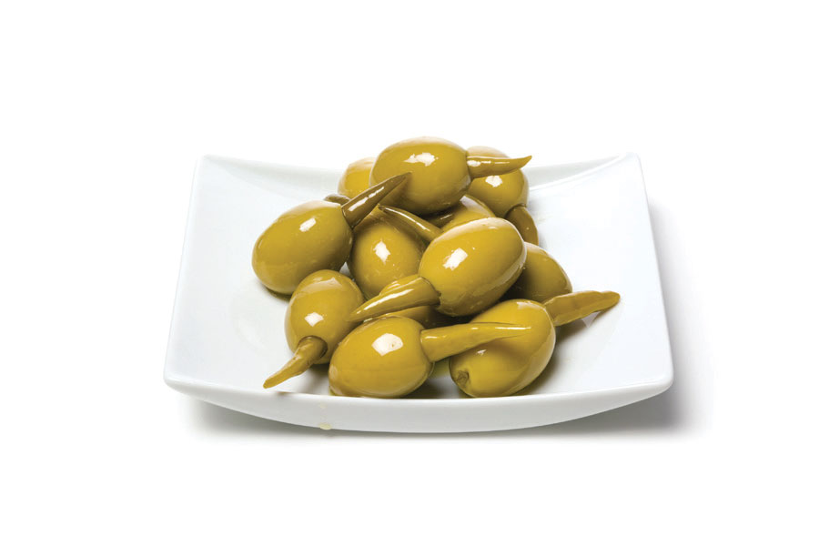 Green Olives Stuffed With Green Piri Piri Peppers